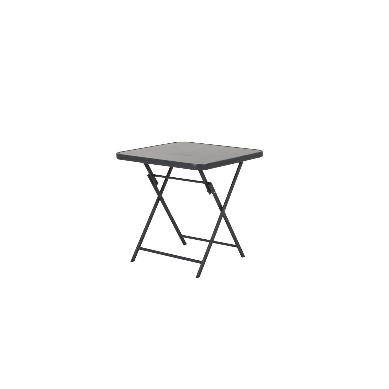 table de jardin naterial denver carr e gris 4 personnes. Black Bedroom Furniture Sets. Home Design Ideas