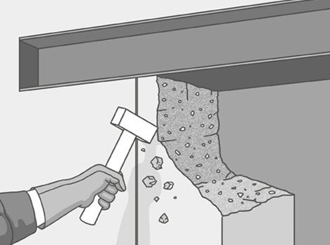 comment agrandir une ouverture dans un mur porteur. Black Bedroom Furniture Sets. Home Design Ideas