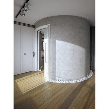 Châssis + porte + habillage bois Circular ECLISSE, pour porte de largeur 73 cm