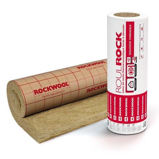 laine de roche roulrock kraft rockwool 2 4 x 1 2 m ep 200 mm r leroy merlin. Black Bedroom Furniture Sets. Home Design Ideas