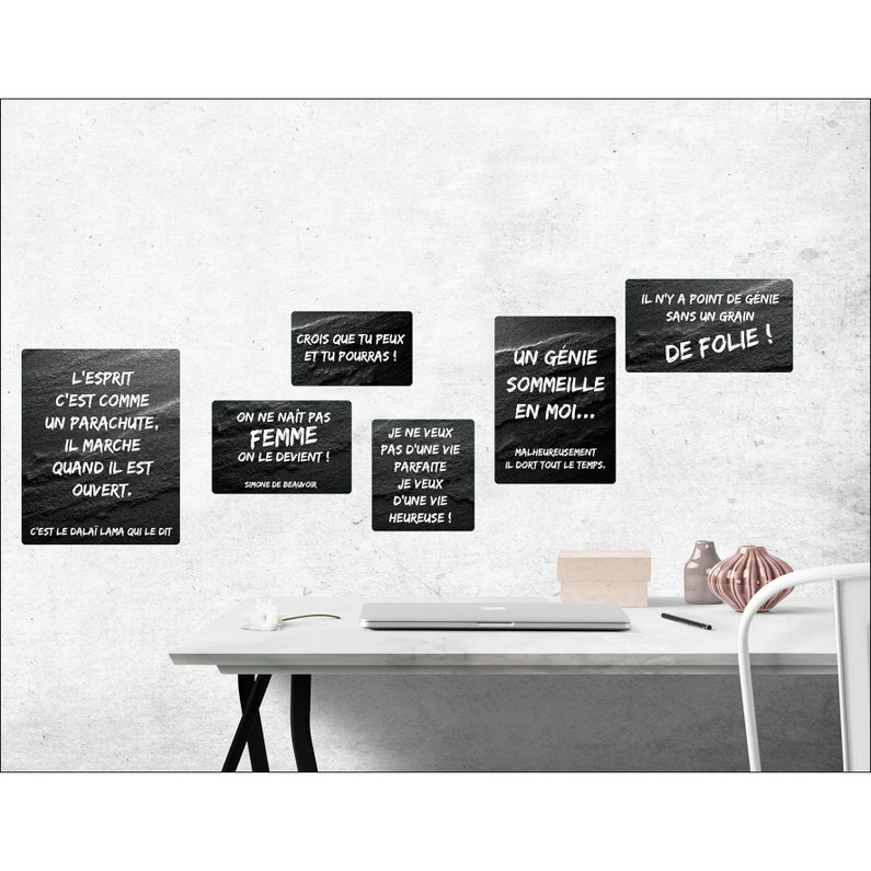 Sticker Sticker Deco 24x68cm Phrases D 24 Cm X 68 Cm