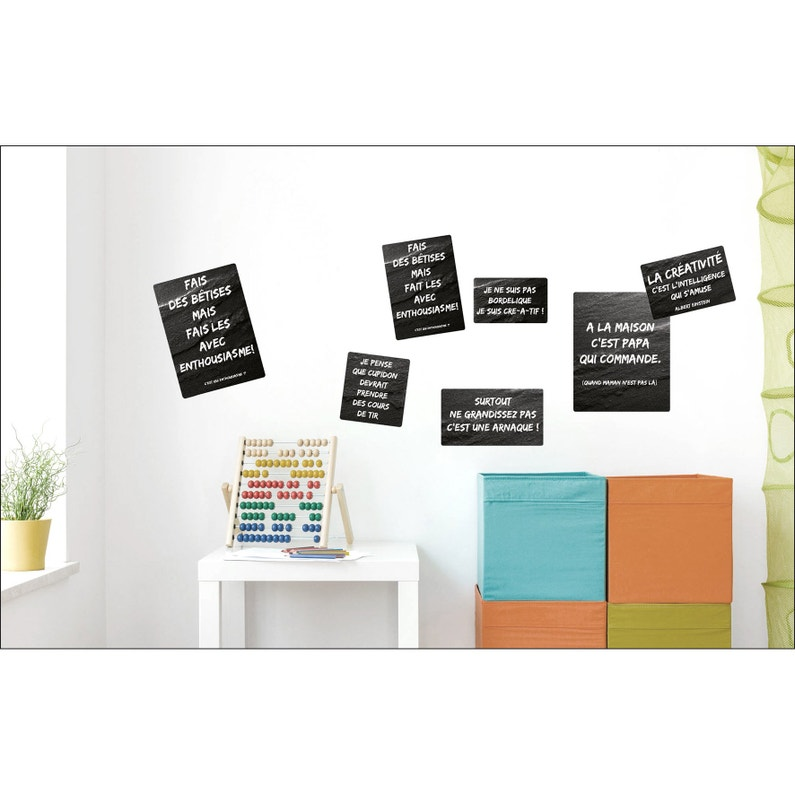 Sticker Sticker Deco 24x68cm Phrases E 24 Cm X 68 Cm