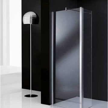 paroi de douche l 39 italienne elis e paroi fixe profil chrom 80 35 cm. Black Bedroom Furniture Sets. Home Design Ideas