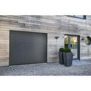 Porte de garage à enroulement EXCELLENCE motorisée aluminium gris , 200x240cm