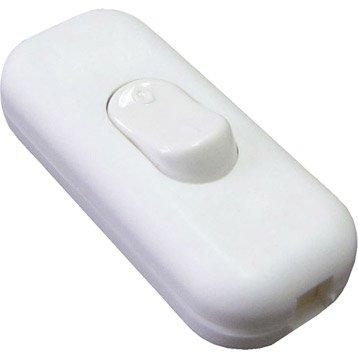 Interrupteur TIBELEC, plastique, blanc