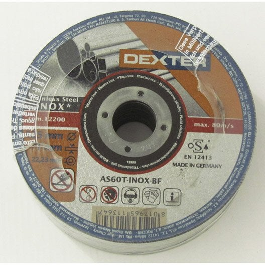 lot 5 disques tron onner pour inox dexter mm leroy merlin. Black Bedroom Furniture Sets. Home Design Ideas