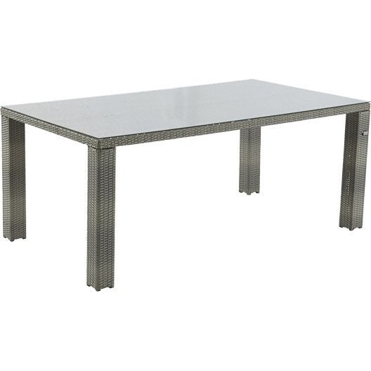 table de jardin faro rectangulaire gris patin 8 personnes leroy merlin. Black Bedroom Furniture Sets. Home Design Ideas