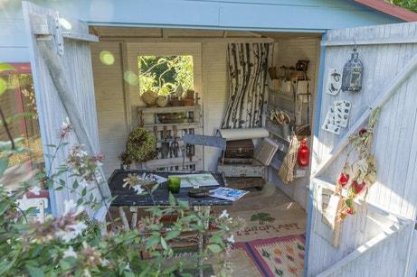 Un abri de jardin idéal pour ranger