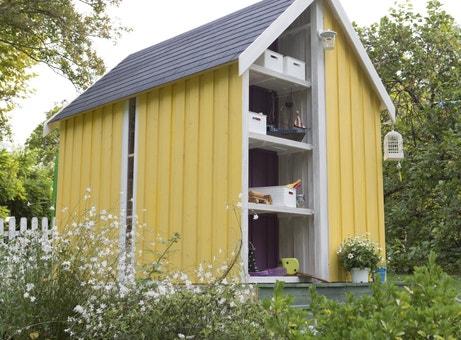 Un abri de jardin bois à personnaliser