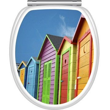 Abattant multicolore Cabines de plage