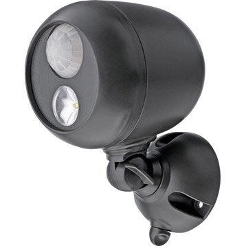 Projecteur à détection à piles Mb360 140 Lm noir MR BEAMS