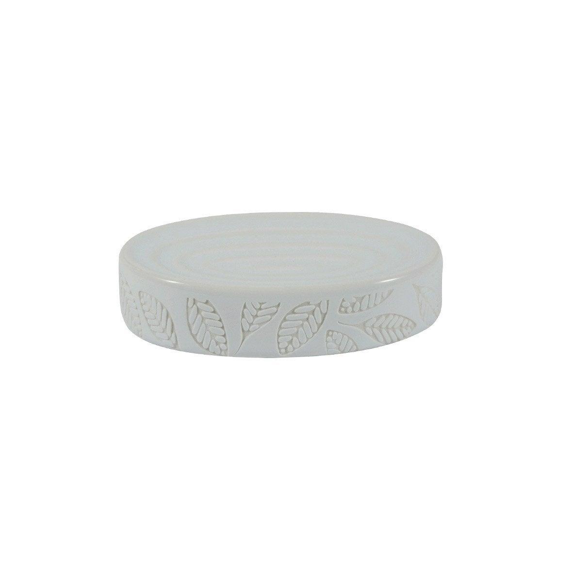 Porte-savon céramique Baya, blanc