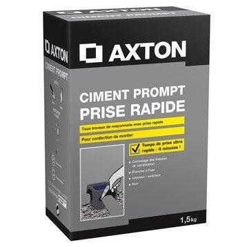 Ciment prompt poudre gris AXTON, 1.5 kg