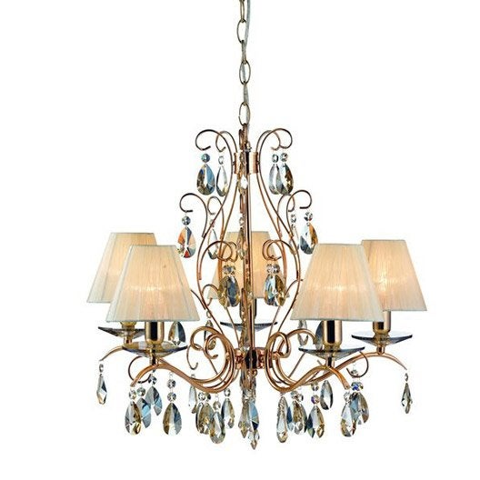 lustre baroque borgeby m tal dor 5 x 40 w leroy merlin. Black Bedroom Furniture Sets. Home Design Ideas
