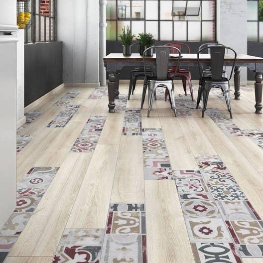 sol stratifi cr ativ 39 composition mix bois carreaux de ciment d cor vicence leroy merlin. Black Bedroom Furniture Sets. Home Design Ideas