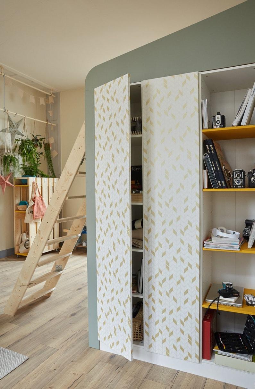 un esprit cabane dans une chambre enfant gr ce une. Black Bedroom Furniture Sets. Home Design Ideas
