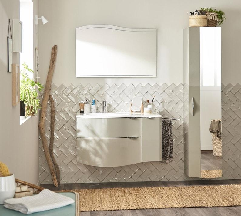 Une salle de bain l gante et naturelle leroy merlin - Ventilation naturelle salle de bain ...