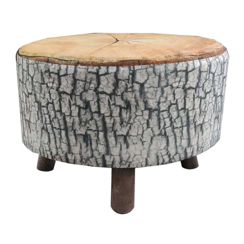 pouf rondin imprim bois fonc x cm leroy merlin. Black Bedroom Furniture Sets. Home Design Ideas