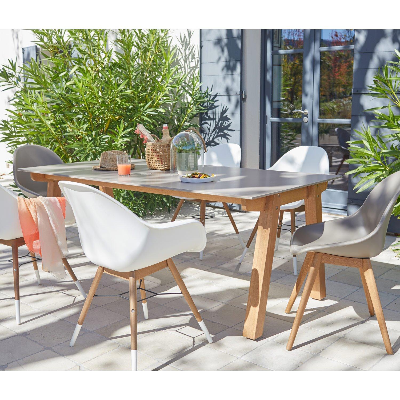 salon de jardin st tropez aluminium taupe 6 personnes leroy merlin. Black Bedroom Furniture Sets. Home Design Ideas