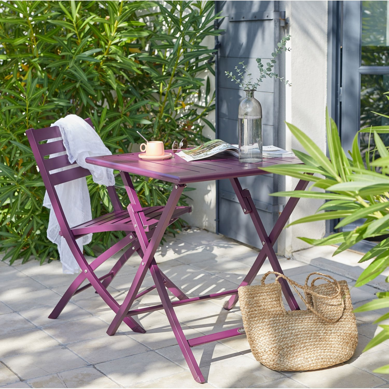 best table de jardin couleur aubergine contemporary. Black Bedroom Furniture Sets. Home Design Ideas