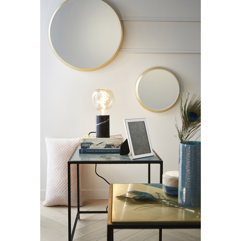 Miroir rond Épais, dorée diam.54 cm