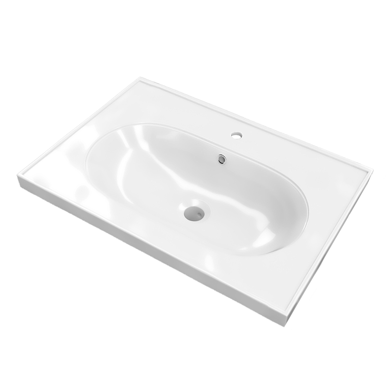 Plan vasque simple Charm Céramique 60.5 cm