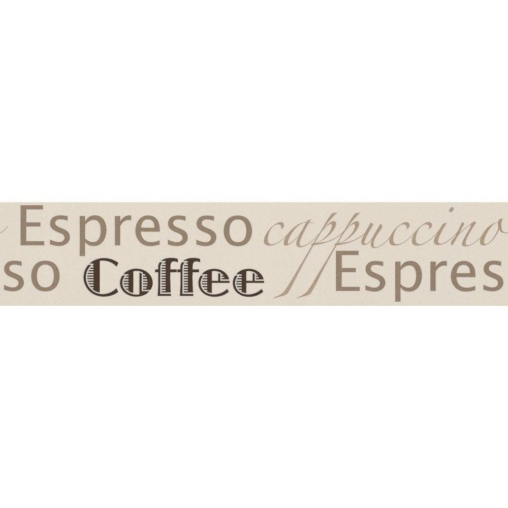 Frise vinyle adhésive Espresso L.5 m x l.13.2 cm   Leroy Merlin