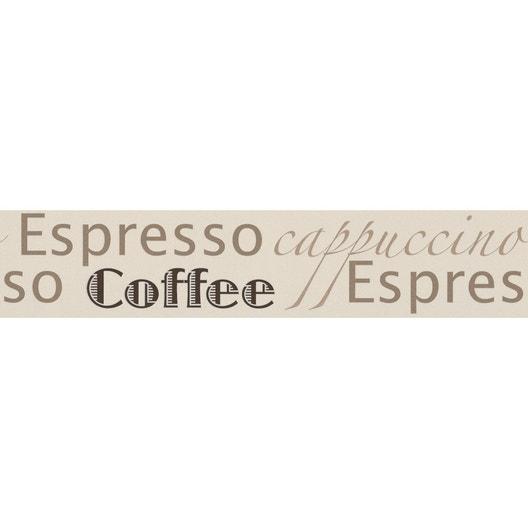 Frise vinyle adhésive Espresso L.5 m x l.13.2 cm | Leroy Merlin