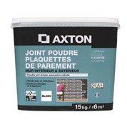Joint poudre plaquette de parement AXTON, blanc, 15 kg