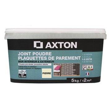 Joint poudre plaquette de parement AXTON, gris, 5 kg