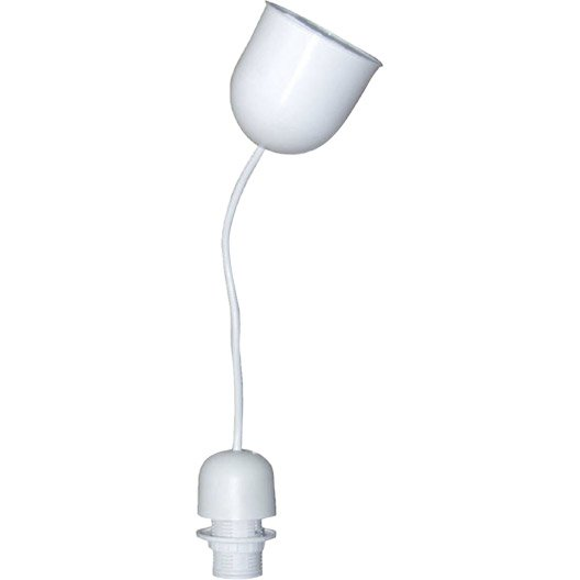 monture plastique e14 tibelec plastique blanc 60 w leroy merlin. Black Bedroom Furniture Sets. Home Design Ideas