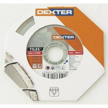 Disque diamant plein à tronçonner pour carrelage DEXTER, Diam.125 mm