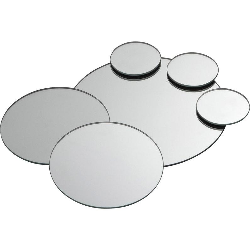 Coffret De 7 Miroirs Non Lumineux Adhesifs Ronds L 45 X L 28 Cm