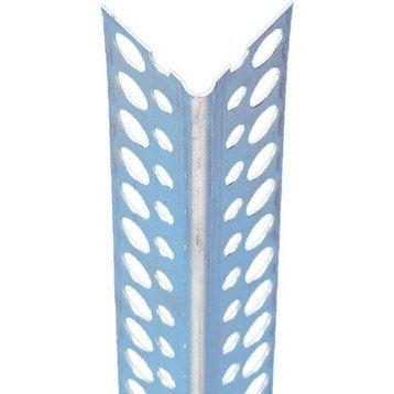 Profil d'angle perforé aluminium, 2.5 m