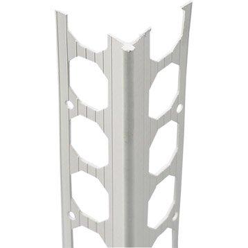 Profil d'angle perforé PVC
