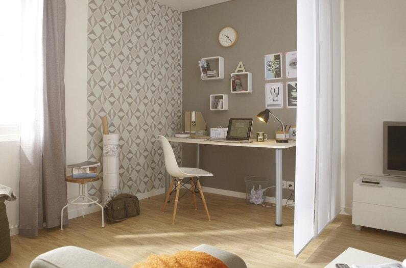 un coin bureau dans le salon leroy merlin. Black Bedroom Furniture Sets. Home Design Ideas
