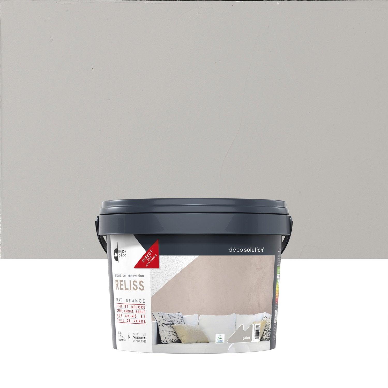 Enduit d coratif reliss 2 en 1 maison deco galet 15 kg - Peinture sans enduit ...