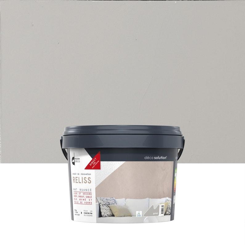 Enduit d coratif reliss 2 en 1 maison deco galet 15 kg - Enduit beton salle de bain ...