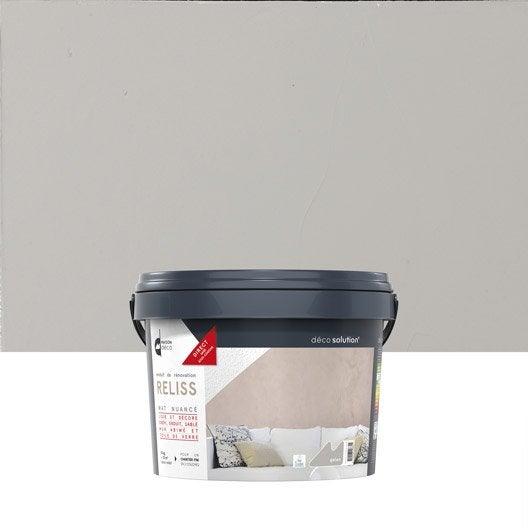 Enduit d coratif reliss 2 en 1 maison deco galet 15 kg leroy merlin for Peinture douche avis