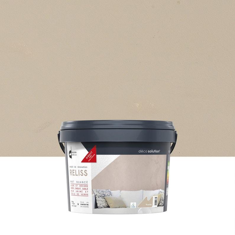 Enduit Decoratif Reliss 2 En 1 Maison Deco Ficelle 15 Kg Leroy
