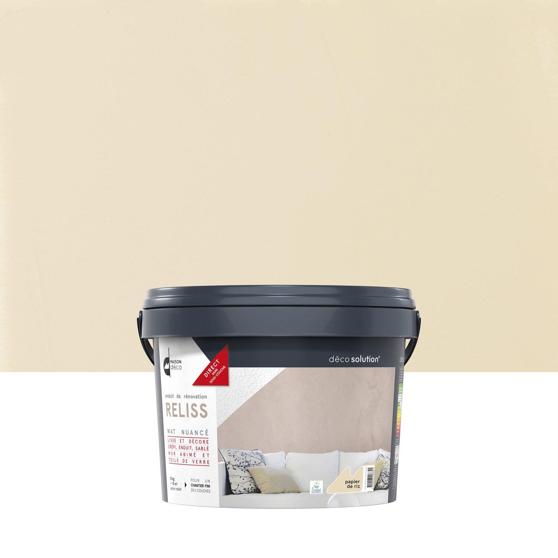 enduit d coratif reliss 2 en 1 maison deco papier de riz 15 kg leroy merlin. Black Bedroom Furniture Sets. Home Design Ideas