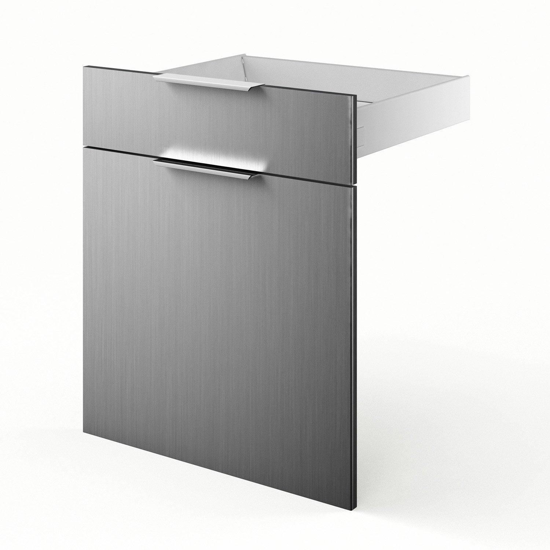 Porte et tiroir de cuisine d cor aluminium stil x h for Porte 60 x 30