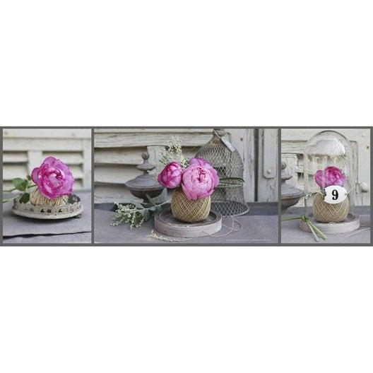 Toile Imprim E Bobines Roses Cloches 140x45 Cm Leroy