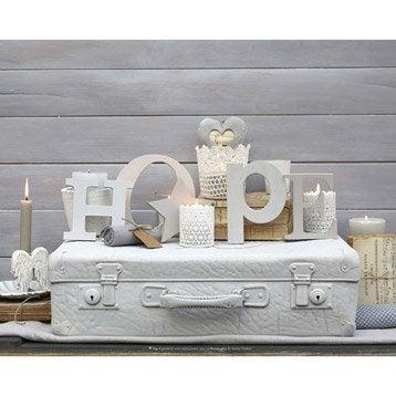 Toile led valise mot hope bougies 50x40 cm for Miroir 90x30
