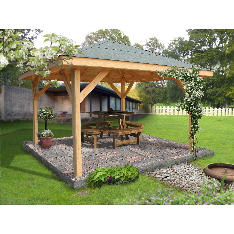 Kiosque bois Villaverde, 11.56 m² | Leroy Merlin