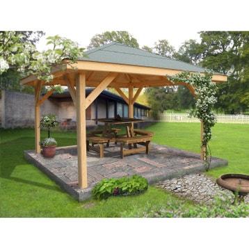Kiosque bois, kiosque de jardin au meilleur prix   Leroy Merlin