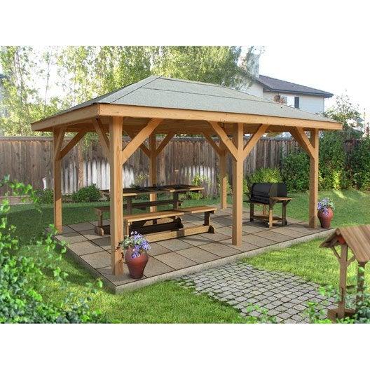 kiosque bois kiosque de jardin au meilleur prix leroy merlin. Black Bedroom Furniture Sets. Home Design Ideas