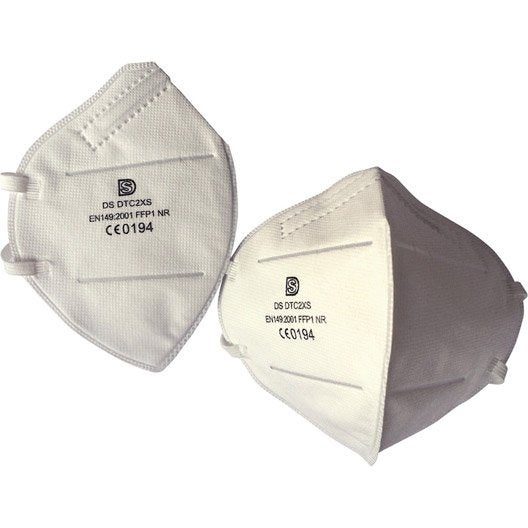 lot de 10 masques de protection respiratoire leroy merlin. Black Bedroom Furniture Sets. Home Design Ideas