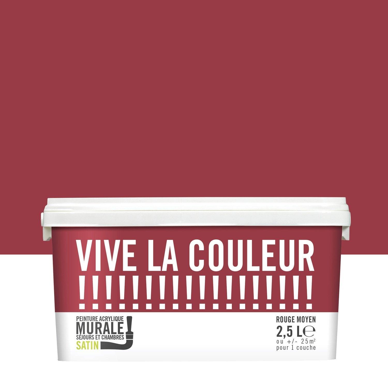 Peinture Rouge Moyen Satin VIVE LA COULEUR!