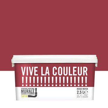 Peinture rouge moyen VIVE LA COULEUR! 2.5 l
